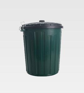 72Ltr Plastic Rubbish Bin & Lid
