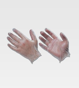 Clear Vinyl Disposable Gloves Large 100/Box