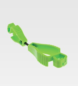 Fluoro Lime Green Glove Clip