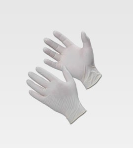 Latex Powder Free Disposable Gloves Large 100/Box