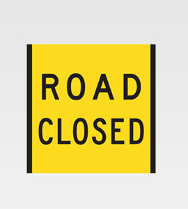Road Closed BEP CL1 1800×300
