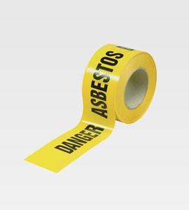 Asbestos Barrier Tape B/Y 75mm x 100mtr